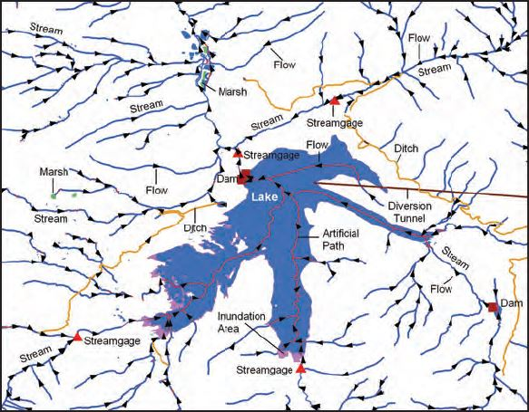 Browse graphic showing hydrography data.